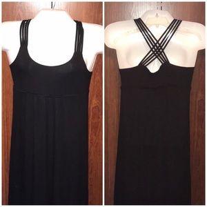 EUC Calvin Klein strapped cross back maxi dress, 8